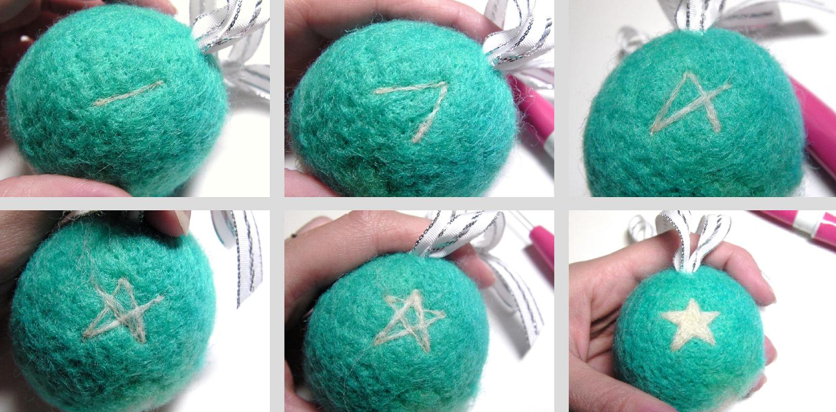 Christmas ball handmade felt toys tutorial for christmas decoration baditri Images