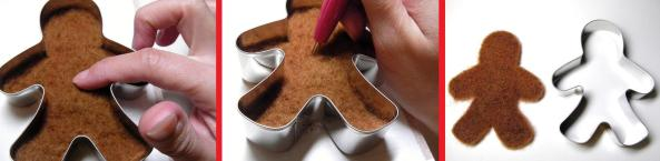 How to needle felt using cookie cutters as patterns