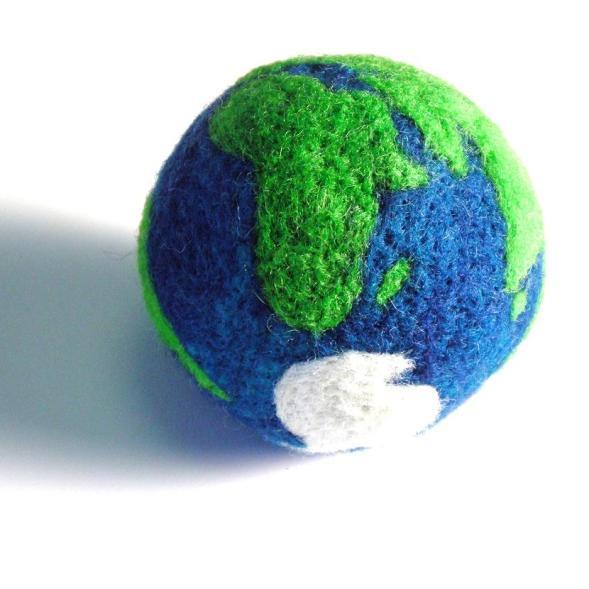 needle felted earth