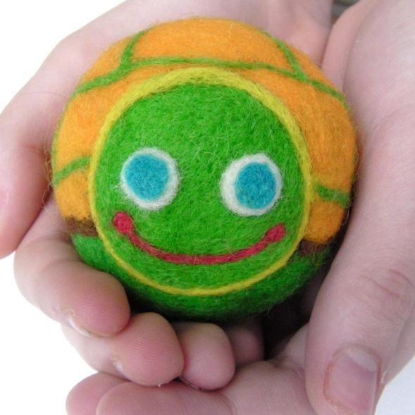 needle felt turtle ball