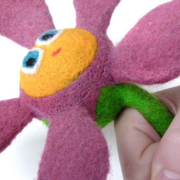 soft flower toy with stem as a handle