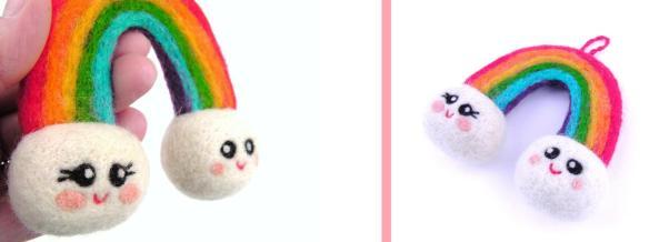 needle felt rainbow