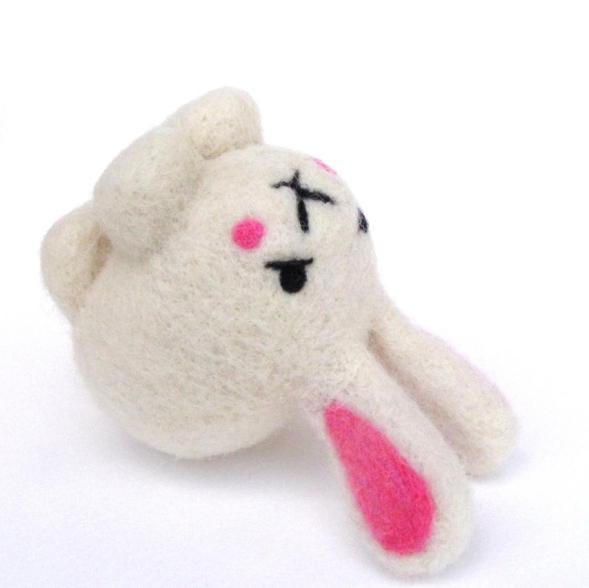 needle felted toy bunny