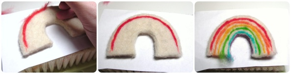 how to make a felted rainbow