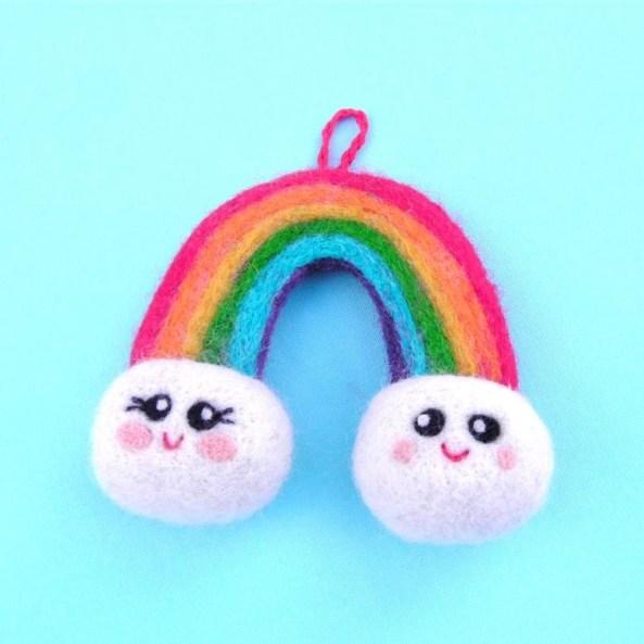 needle felt toy rainbow