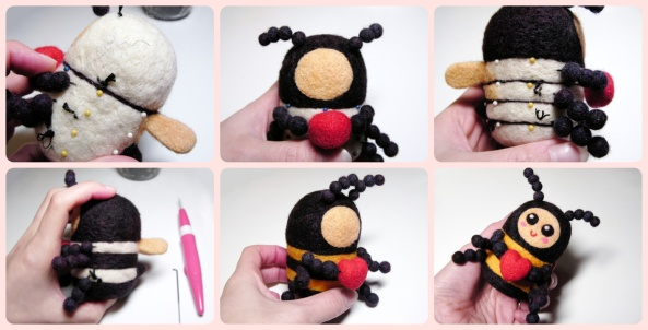 needle felting craft for Valentine's