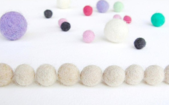 how to wet felt small beads